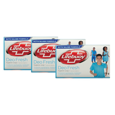 Lifebuoy Soap Deo Fresh 175g Buy 3 For