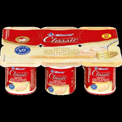 Clover Classic Yoghurt Vanilla Flavoured Collection 6x100g