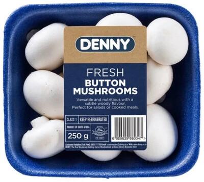 White Button Mushrooms 250g