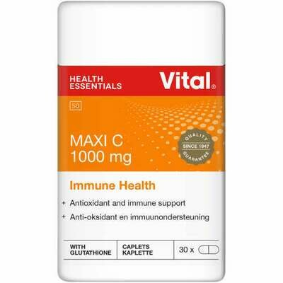 Vital Maxi C 1000mg Immune Health 30 Capsules