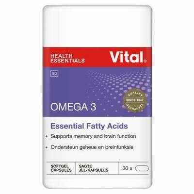 Vital Omega 3 Essential Fatty Acids 30 Capsules