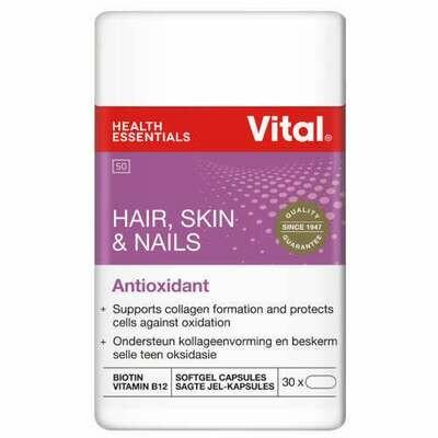Vital Hair, Skin & Nails Antioxidant 30 Capsules