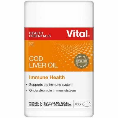 Vital COD Liver Oil Immune Health 90 Capsules
