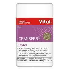 Vital Cranberry Herbal 30 Capsules
