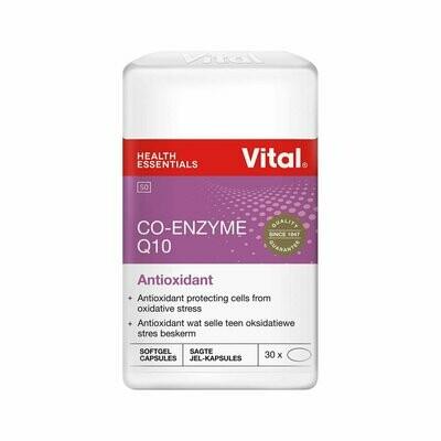 Vital CO-Enzyme Q10 Antioxidant 30 Capsules