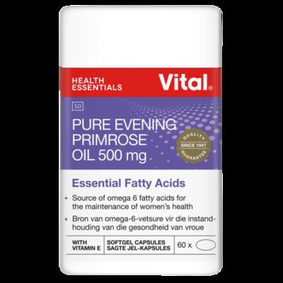 Vital Pure Evening Primrose Oil 500mg 60 Capsules