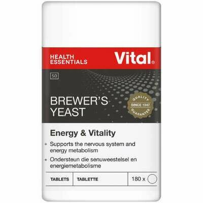 Vital Brewers Yeast 180 Tablets