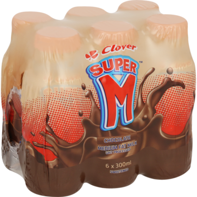 Clover Super M Chocolate 6x300ml