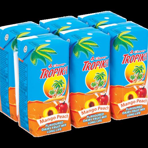 Clover Tropika Easy Mango & Peach 6x200ml