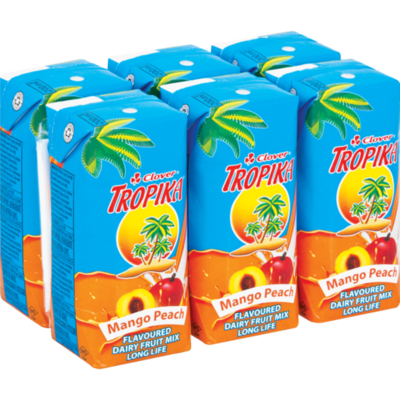Clover Tropika Easy Mango & Peach 6x200ml