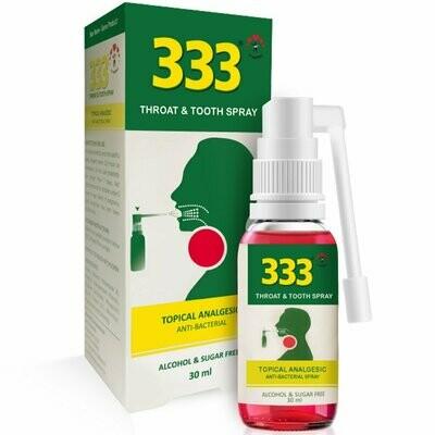 333 Throat & Tooth Spray 30ml