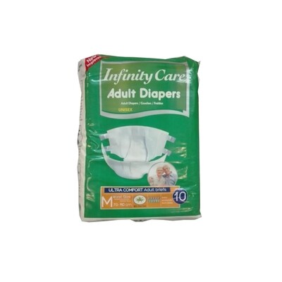 Infinity Care Adult Diapers Medium 10 Pack
