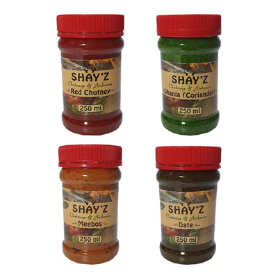 Shayz Chutney 250ml Buy Any 2 For