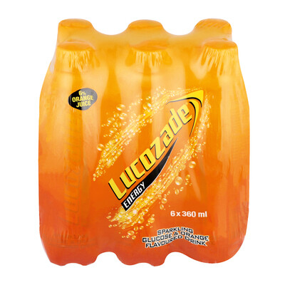 Lucozade Energy Drink Orange 6x360ml