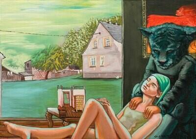 RELAXING, Gemälde von Lee D. Böhm