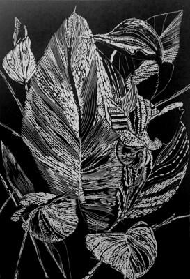 Magda Chmielek, Black Leaves, 2020