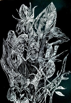 Magda Chmielek, Black Leaves II