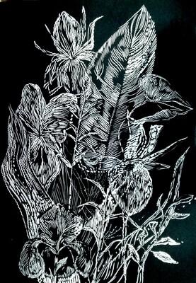 Magda Chmielek, Black Leaves II