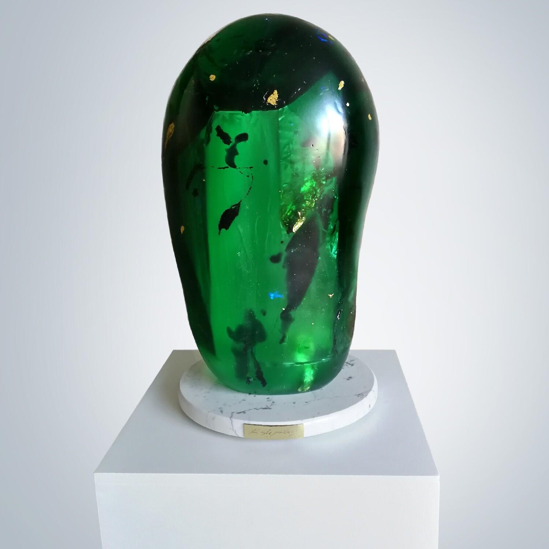 Kamila Stepniak, Emerald & Gold Stone II, 2020