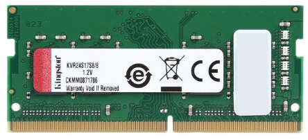 8GB Dimm de Memoria RAM para  notebook / portátil / laptop -marca Kingston - DDR4 - 2400 Mhz