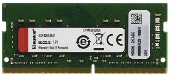 8GB Dimm de Memoria RAM para  notebook / portátil / laptop -marca Kingston - DDR4 - 2666 Mhz