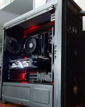 Nuclear Black Edition - AMD Ryzen 5 3600  - GTX 1660 Super  - 16GB RAM 3200 Mhz - NVMe SSD 512GB (3,500 MB/S)