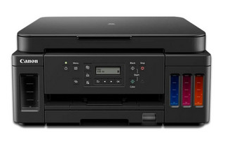Canon PIXMA G6010 Multifuncional, impresora, copiadora, escáner, con Sistema de Tanques de Tinta, USB, Ethernet, Wi-Fi