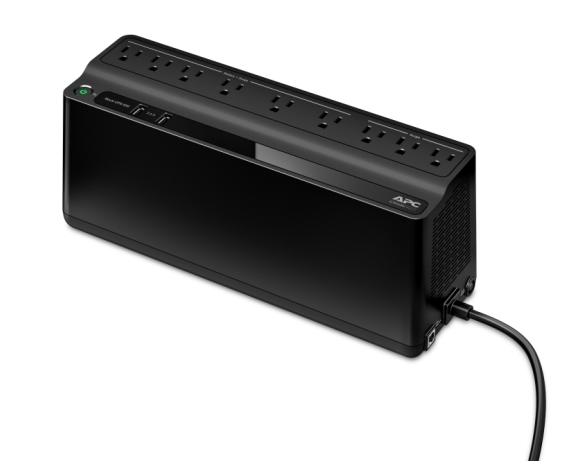 APC Back-UPS - ES 850VA, 2 USB charging ports, 120V