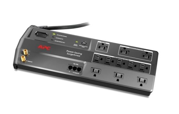 APC Surge Protection - Rendimiento de ahorro de energía SurgeArrest, 11 tomacorrientes con protección para teléfono y video, 120V