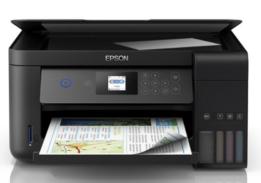 Epson EcoTank L4160 - Impresora a color inalámbrica con escáner y copiadora
