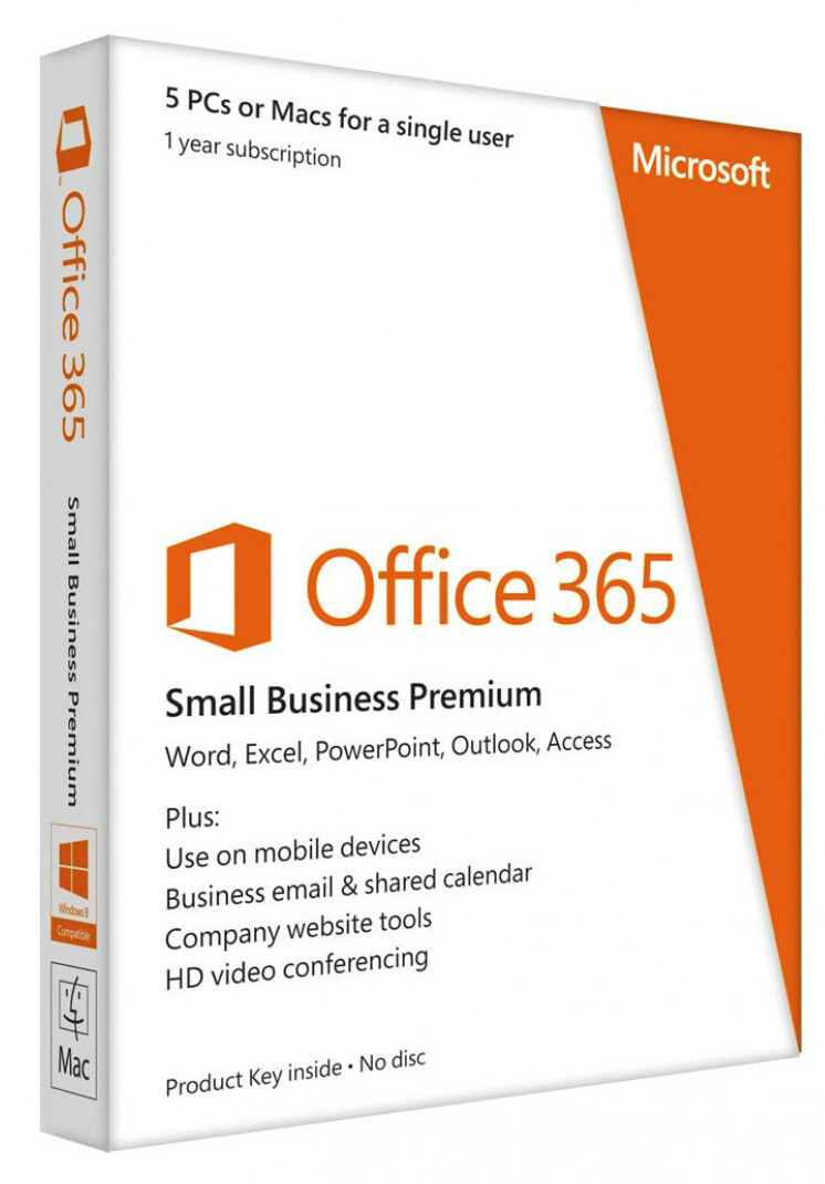 Microsoft Office 365 Small Business Premium Español, 5 PCs/Mac, 1 Año, para Windows