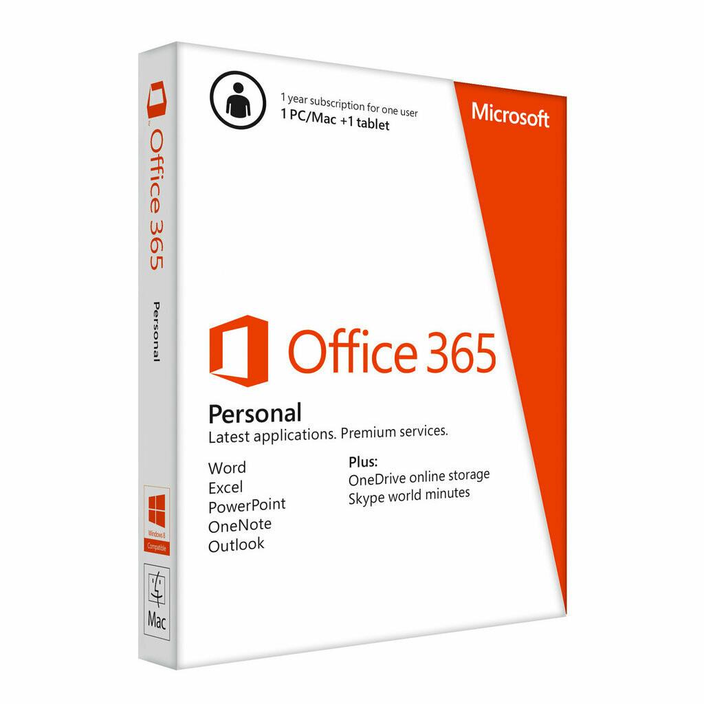 Office 365 Personal 1 Año 1 Usuario 5 Dispositivos Windows-Mac uso en Hogar
