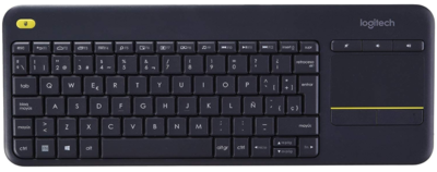 Teclado Logitech  - Wireless - K400 Plus - con panel táctil
