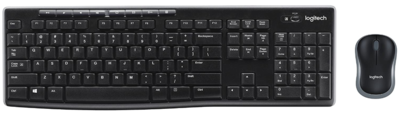 Logitech Combo Teclado y Mouse - MK270 - Wireless