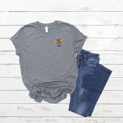 Bee Kind tshirt , Pocket graphic, Free Shipping