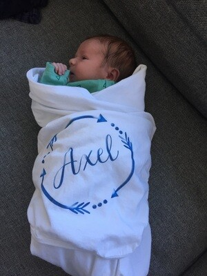 Personalized Soft White baby blanket