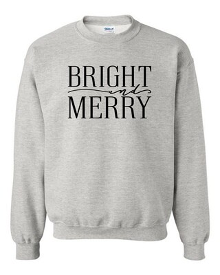 Bright and Merry comfy sweatshirt for Christmas