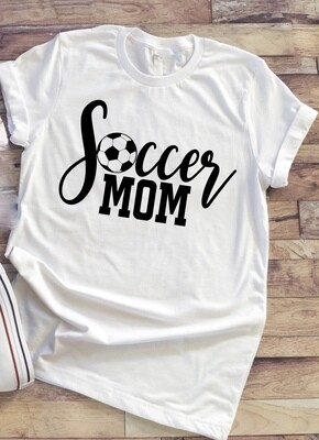Soccer Mom shirt with color option for lettering