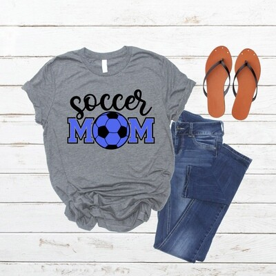 Soccer Mom shirt Style #2 with color option for lettering