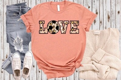 Soccer LOVE with color option for lettering