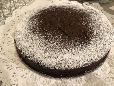 CHOCOLATE FLOURLESS CAKE    |    GF   |   DF      |    8