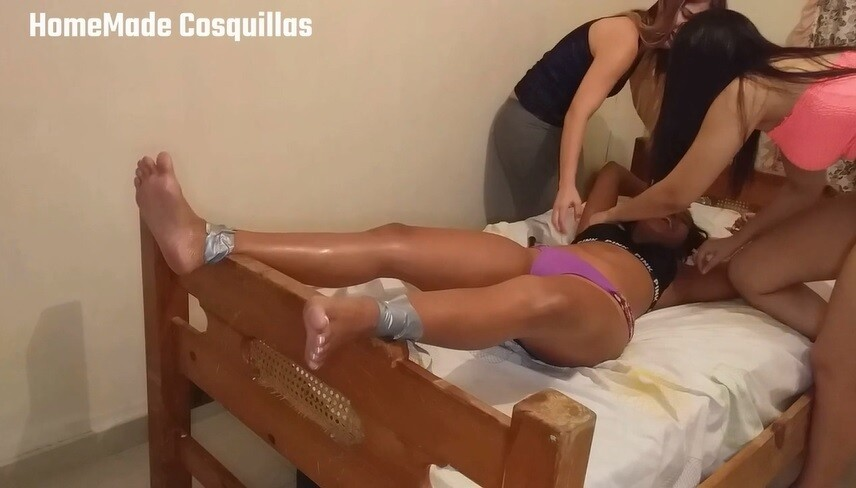 Lucia tickle torture in bed