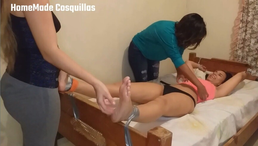 Maria tickle torture in bed