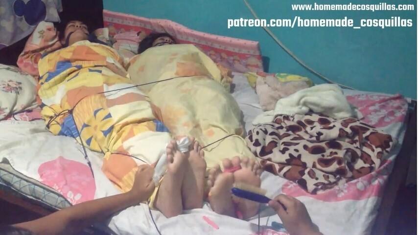 Daniela & Gaby mummified tickle!