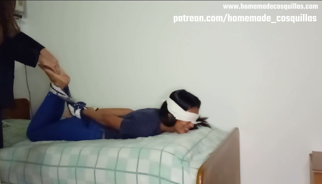 Hogtied tickle challenge by two curious girls. Part I