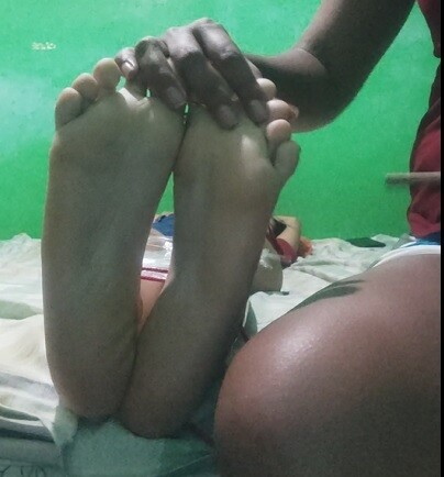 Miranda tickled And feet exposed