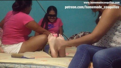 Daniela's ticklish feet