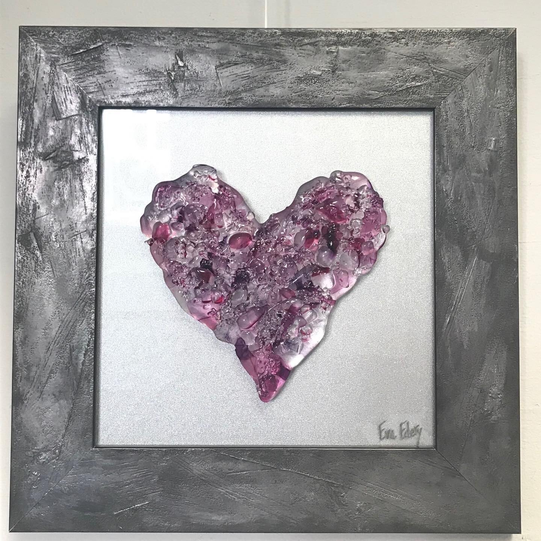 Heart Beat in Purple Hues