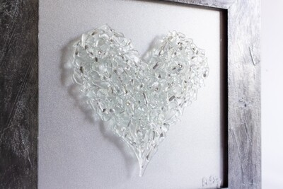 Clear Heart with Swarovskis