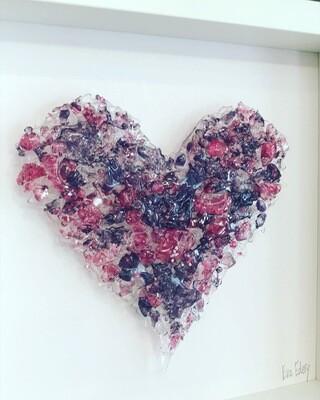 Heart Beat in Purple & Pink